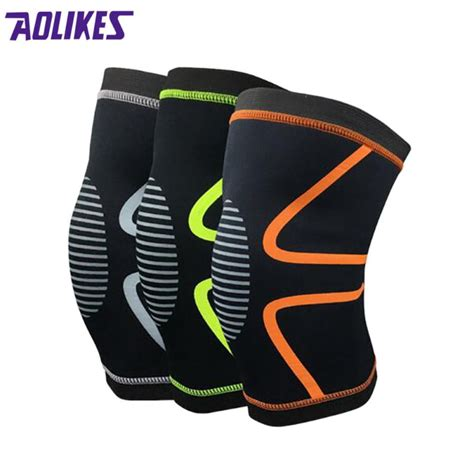 Supports Aolikes 1pcs Wristbands Bandage Safety Knee Pads aolikes 1pcs new adjust bamboo charcoal elastic knee support knee pads brace kneepad