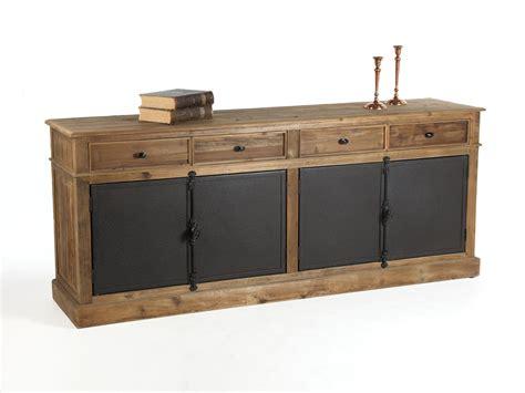 buffet bas en bois avec tiroirs et portes en m 233 tal