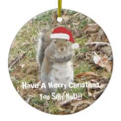 funny christmas squirrel ornament zazzle