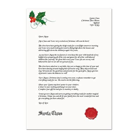 Late Gift Letter From Santa letter from santa when present will be late being frugal