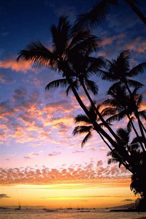 wallpaper iphone 6 hawaii ハワイの海の夕焼け iphone壁紙ギャラリー