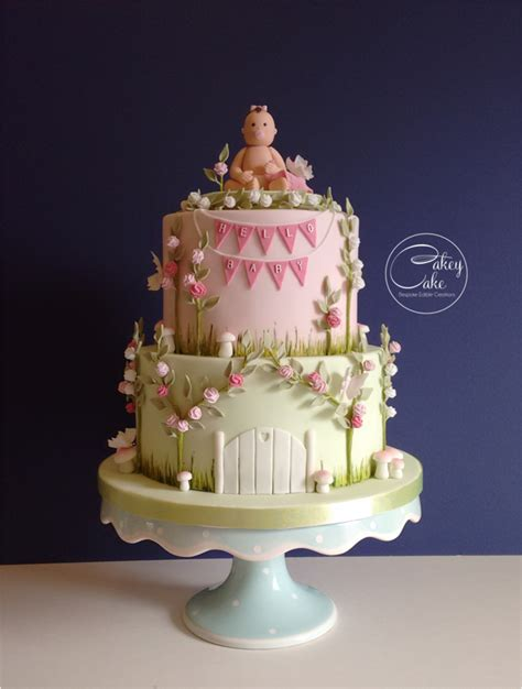 Garden Themed Baby Shower Cakes by Enchanted Garden Baby Shower Cake Cakecentral