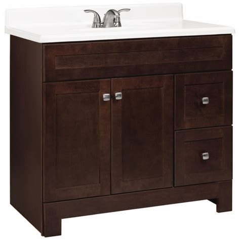 bathroom vanity lowes estate by rsi java avalon bath vanity with shaker doors at