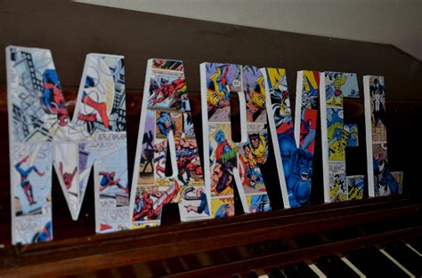 marvel letters superman bedroom