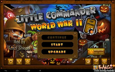 download game android little commander mod little commander ww2 halloween mod tiền cho android