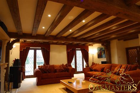 Lighting For Beamed Ceilings Ceiling Beams And Beam Layouts Oakmasters