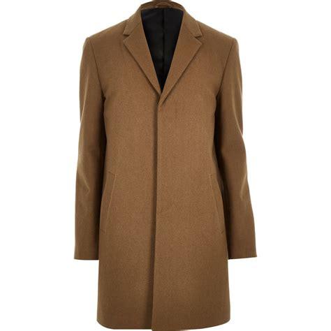 Dress Coat Brown river island brown wool blend winter overcoat in brown for