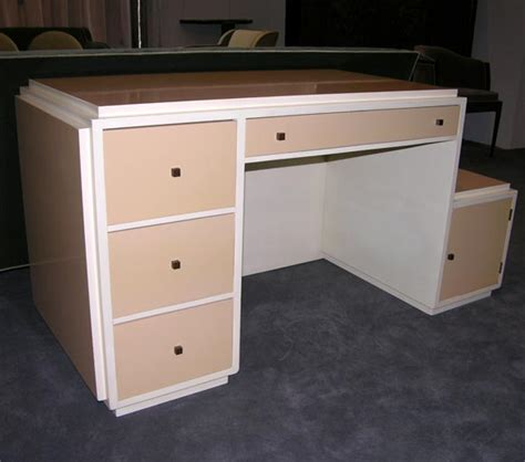 Painted Wood Desk by Modernist Painted Wood Desk By Jules Bouy At 1stdibs