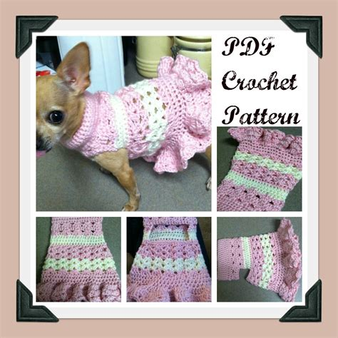 free pattern chihuahua clothes pdf crochet pattern littlest bo peep crochet dog dress