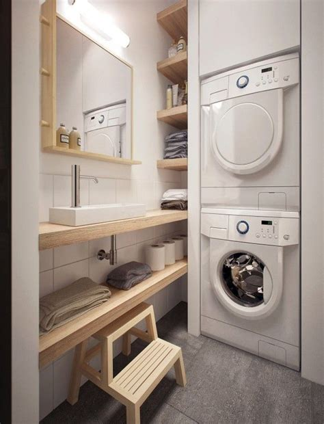 laundry in bathroom ideas 12 tiny laundry room with saving space ideas home design
