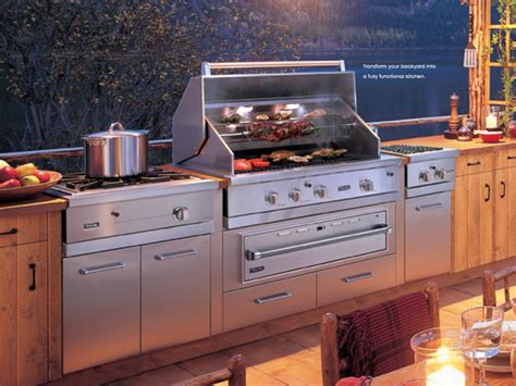 outside kitchen appliances viking outdoor kitchen and cooking island new york by