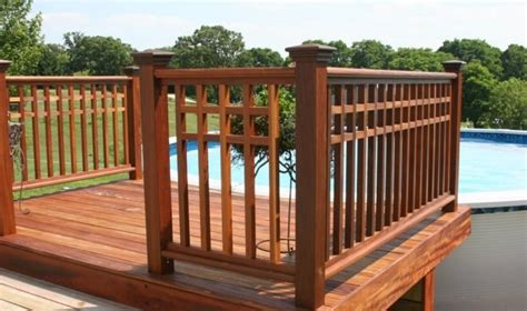 Mahogany Banister by Products Capital Lumber