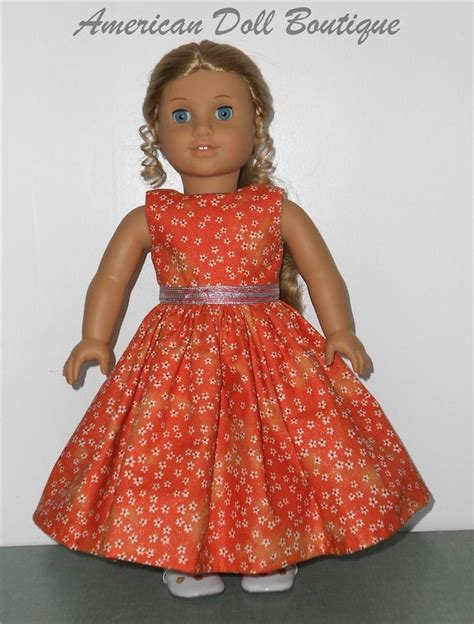 Clothes Handmade - fits 18 quot american doll clothes handmade orange dress