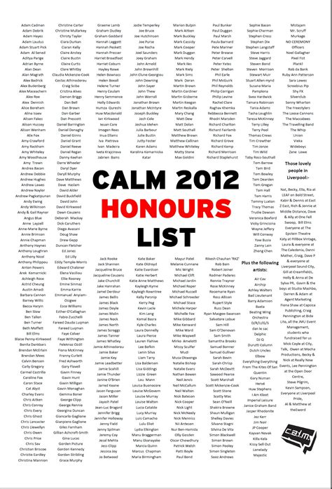 new year year of the list calm new years honours list caign against living