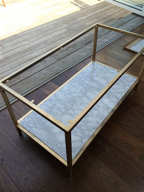 ikea hack coffee table diy gold and faux marble coffee table ikea hack