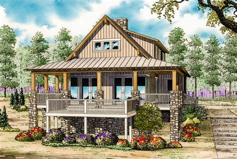 cottage country low country cottage house plan 59964nd architectural