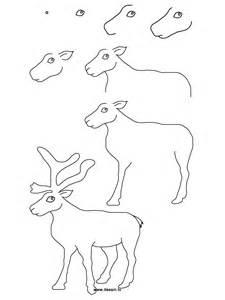 drawing reindeer