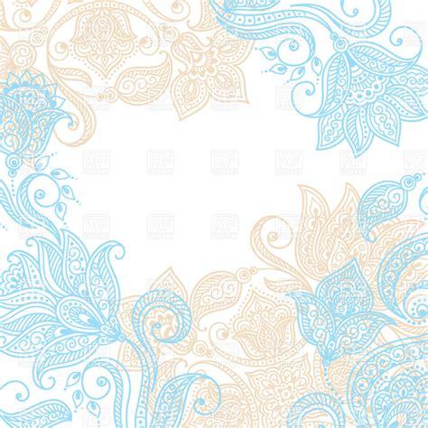 mendi style background indian tracery royalty free blue indian ethnic tracery background with mehndi style