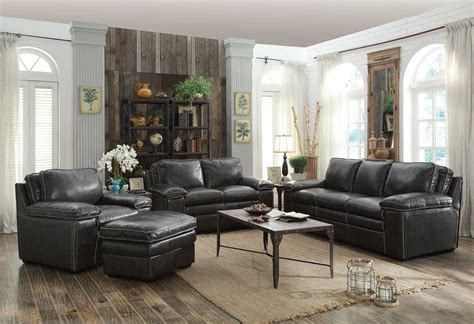 Regalvale Charcoal Living Room Set From Coaster 505841 Charcoal Living Room Furniture
