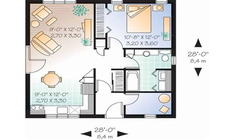 1 Bedroom Cottage Floor Plans | one bedroom cottage house plans one bedroom house designs