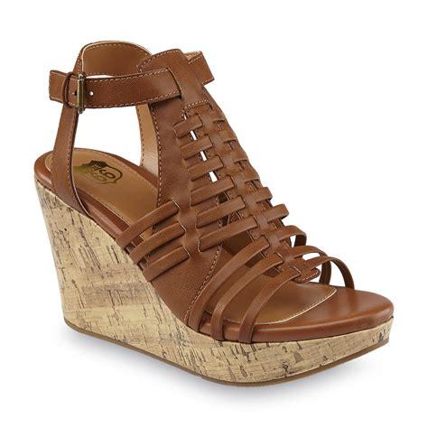 Sandal Wedges Jepit Spon 66 route 66 s takota cognac caged wedge heel sandal shoes s shoes s sandals