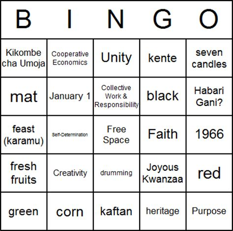 printable kwanzaa cards download kwanzaa bingo card printables free education