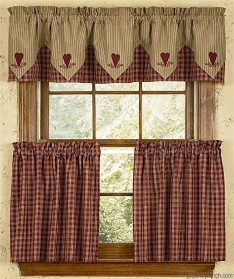 country plaid kitchen curtains 204 best images about country curtains on pinterest