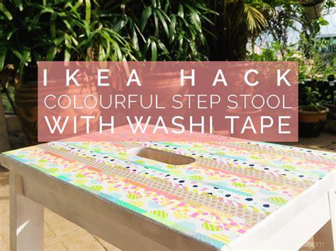 ikea hack colourful step stool with washi tape petit bout de chou the bekv 196 m step stool gets pretty with washi tape ikea