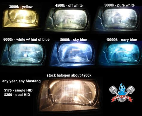 Hid Lights Colors by 1999 To 2004 Mustang Hid Conversion Kits Last Call