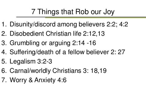 7 Things To About His Parts by 7 Things That Rob Our Philippians Part 3
