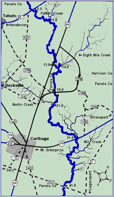sabine county texas map ddrc river trip description