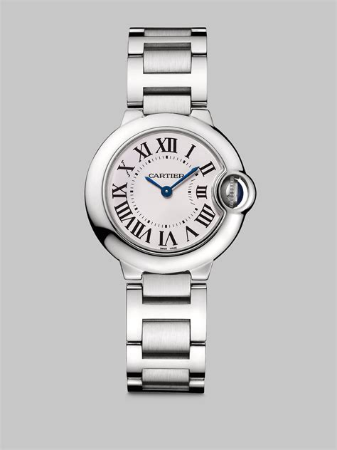 cartier metalic lyst cartier ballon bleu de small stainless steel