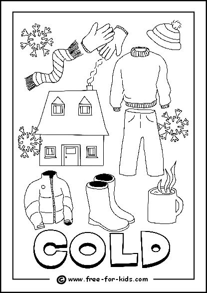 free coloring pages of weather for preschool