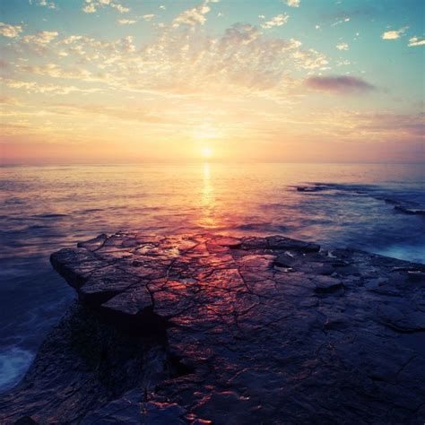 wonderful sea sunset landscape ipad wallpaper ipad