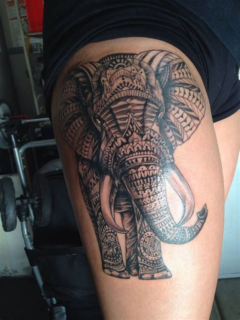 elephant tattoo designs meanings elephant on thigh designs ideas and meaning