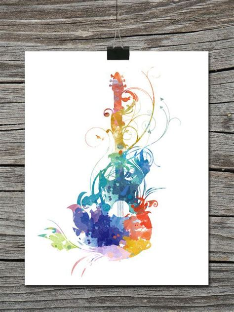 watercolor tattoo guitar watercolor guitar suche painting ideas