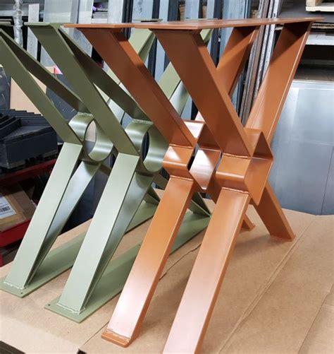 Pied De Table Metal 2866 by Modern Dining Table Quot X Quot Legs Model Tt11 Industrial Legs