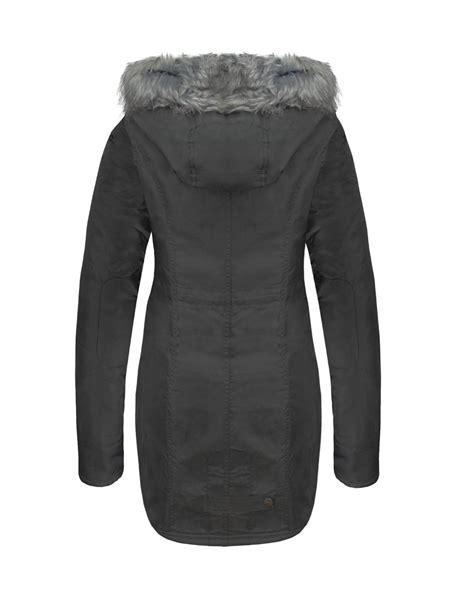 Jaket Button Line 2 Tone Navy Pocket womens sleeves fur pocket button zip parka jacket coat ebay
