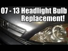 Honda Crv Headlight Bulb Replacement 2007 2014 Honda Cr V Headlight Bulb Replacement