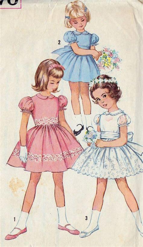 vintage pattern girl 1960s girls summer party dress vintage sewing pattern