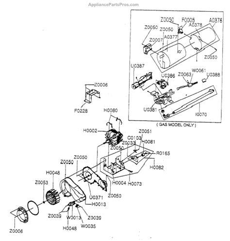 samsung dryer parts samsung dc93 00634a assy motor parts 27 quot dryer appliancepartspros