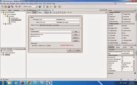 gui swing how to create java swing program in netbeans howsto co