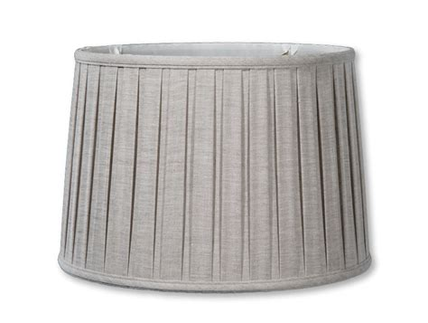 natural linen drum l shade natural color linen drum box pleat softback shades 07200a
