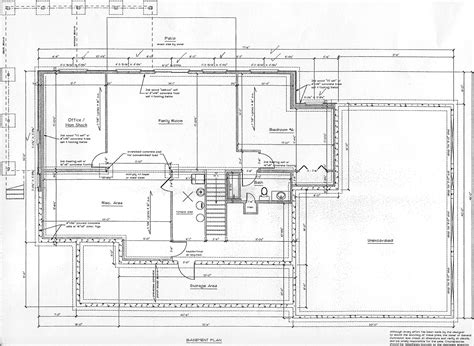 basement blueprints floor plans and elevations click to enlarge
