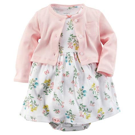 Set Dress Baby carters newborn 3 6 9 12 months cardigan floral dress