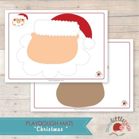 printable christmas playdough mats 17 best images about maschere on pinterest mask for kids