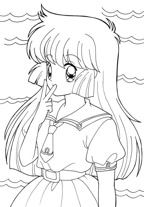 anime coloring page anime female coloring coloring pages