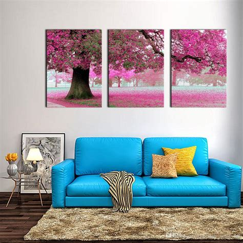 canvas print wall painting for home decor purple