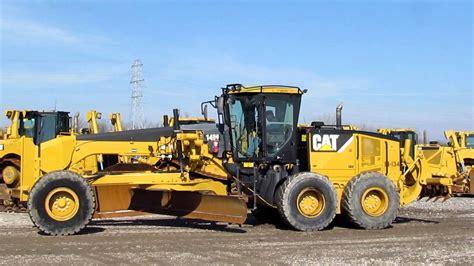 14m motor grader cat 14m motor grader w front push block 16 ft moldboard