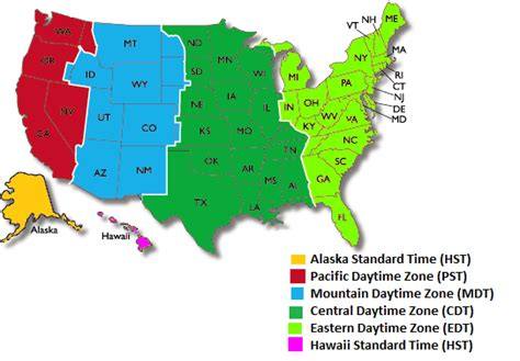 us map time zone wise this is the umited states of america thinglink